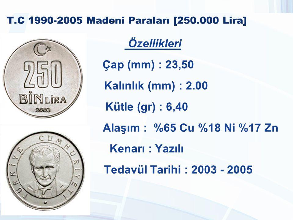 T.C 1990-2005 Madeni Paraları [250.000 Lira]